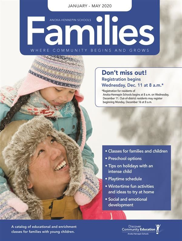 Families Winter Spring 2020 Catalog Cover